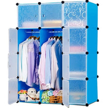 Load image into Gallery viewer, 12 cube Plastic Blue Wardrobe