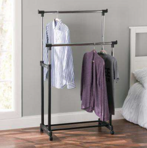 3 in 1 Adjustable Clothes Stand with wheels