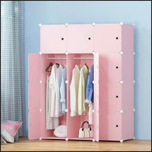Load image into Gallery viewer, 12 cube Plastic Pink Wardrobe