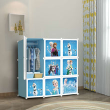 Load image into Gallery viewer, 9 Cube Cabinet with Hanging - Frozen