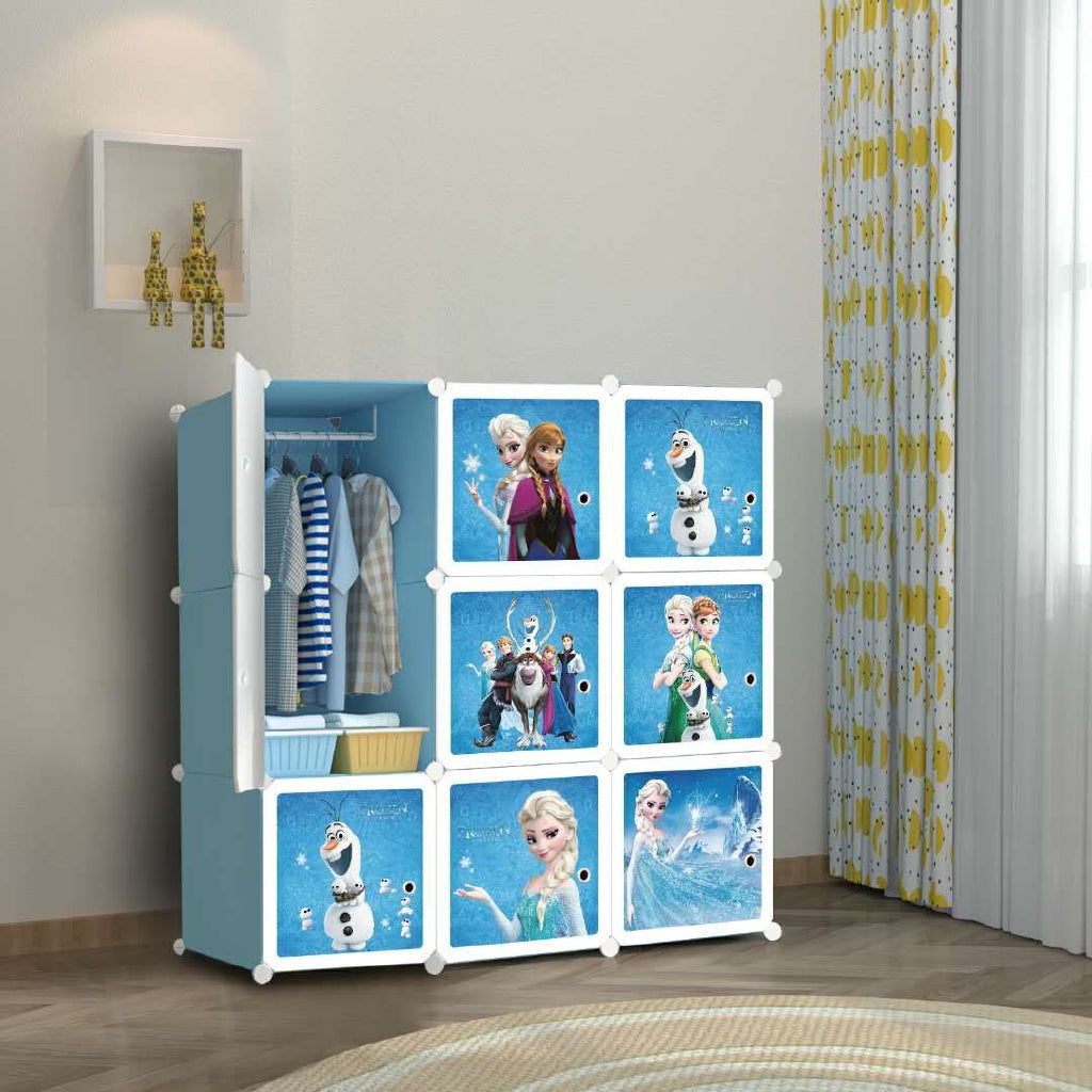 9 Cube Cabinet with Hanging - Frozen