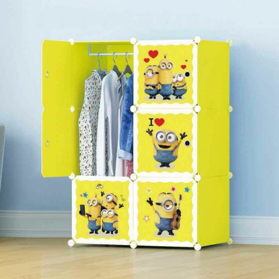 6 Cube Cabinet - Minion with Hanging