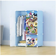 Load image into Gallery viewer, 6 cube Kids Plastic Wardrobe with Hanging