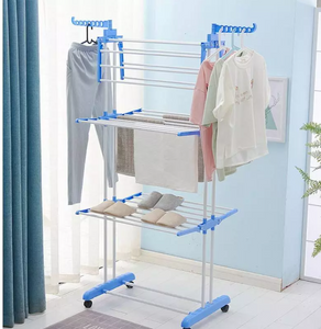Movable Stainless Steel Clothes Drying Rack