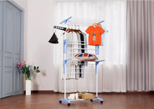 Load image into Gallery viewer, Movable Stainless Steel Clothes Drying Rack