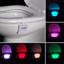 Load image into Gallery viewer, Motion Activated Toilet Night Light with 8 Color