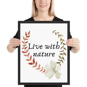 Live with Nature Quote