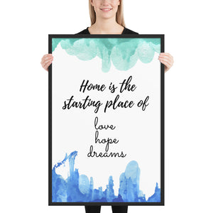 Home is the Starting Place Quote