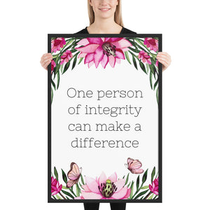 One Person of Integrity Quote