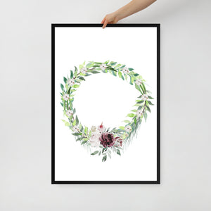 Wreath with Flowers