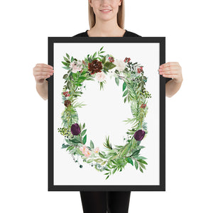 Wreath with Greenery and Flowers