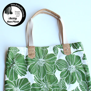 Make a Shopping tote with some fancy webbing handles!