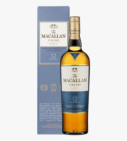 Macallan Fine Oak 12 years old Single Malt Scotch Whisky 700ml