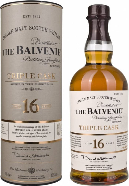 The Balvenie 16 years old Triple Cask Single Malt Scotch Whisky 700ml