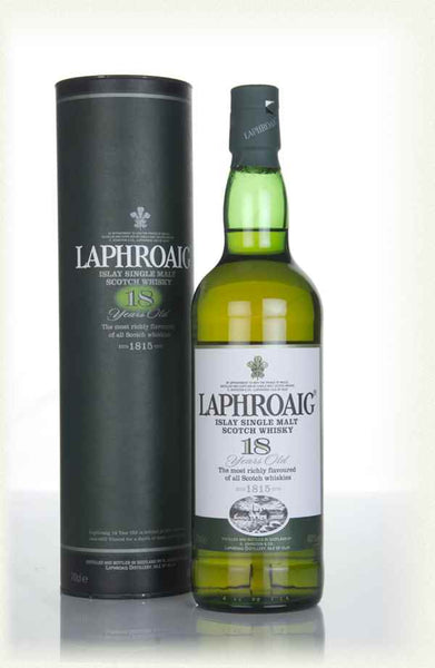 Laphroaig 18 years old Islay Single Malt Scotch Whiskey 700ml