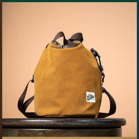 DRAWSTRING POUCH Fake Suede Leather