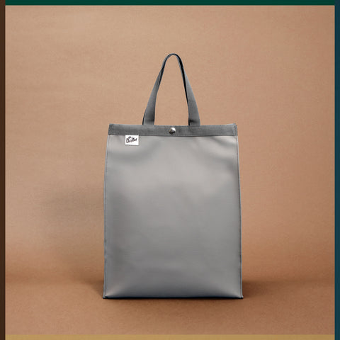 PAPER BAG TOTE FAKE LEATHER