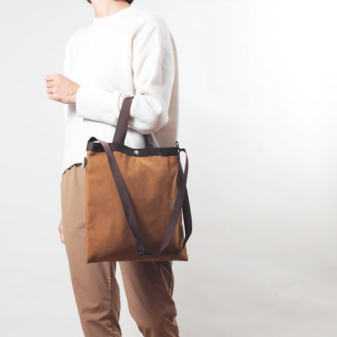 ELEMENTARY TOTE -FAKE SUEDE LEATHER-