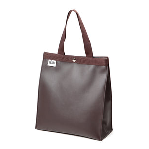 PAPER BAG TOTE S FAKE LEATHER