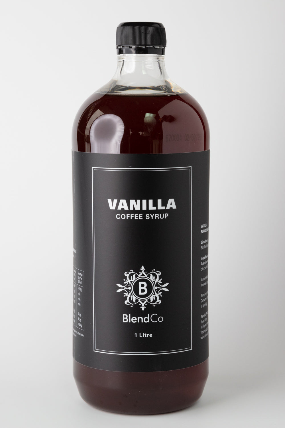 BlendCo Vanilla Syrup 1L | BlendCo Australia - Beyond the Cup | Coffee | Tea | Machinery