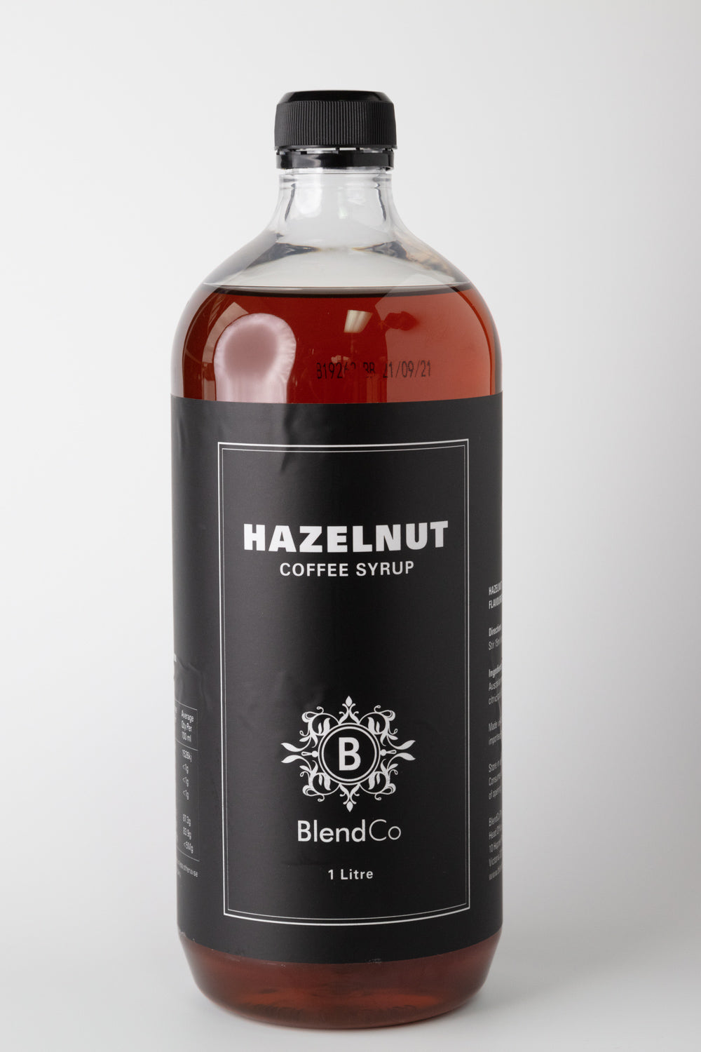 BlendCo Hazelnut Syrup 1L | BlendCo Australia - Beyond the Cup | Coffee | Tea | Machinery