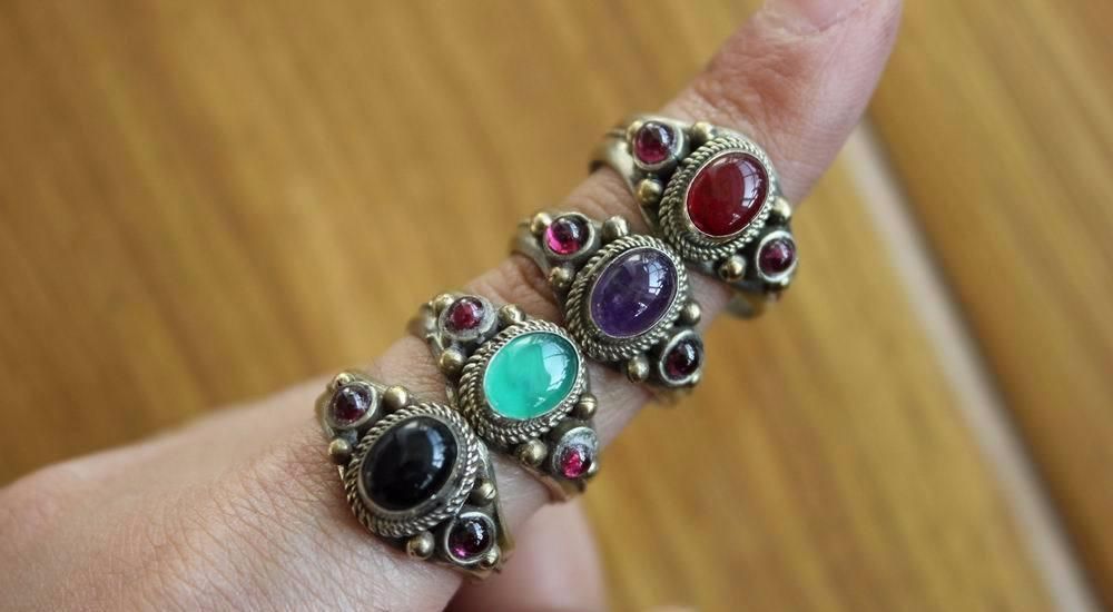 Nepal Onyx Stone Adjustable Rings