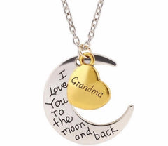 "A ""Moon and Back..Grandma"" Necklace"