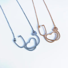 Heart Stethoscope Necklace