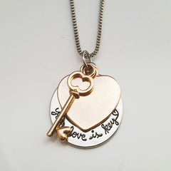 Love is Key Necklace - 50% OFF with DISCOUNT CODE
