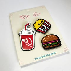 Yummy in my Tummy Pin Set