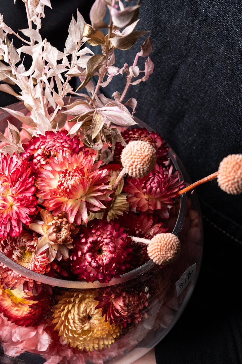 Preserved Flowers in Fishbowl