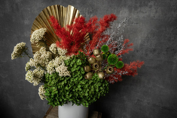 Festive Preserved Flowers Arrangement