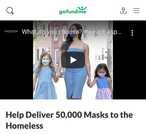 HELP US DELIVER 50,000 MASKS TO THE HOMELESS