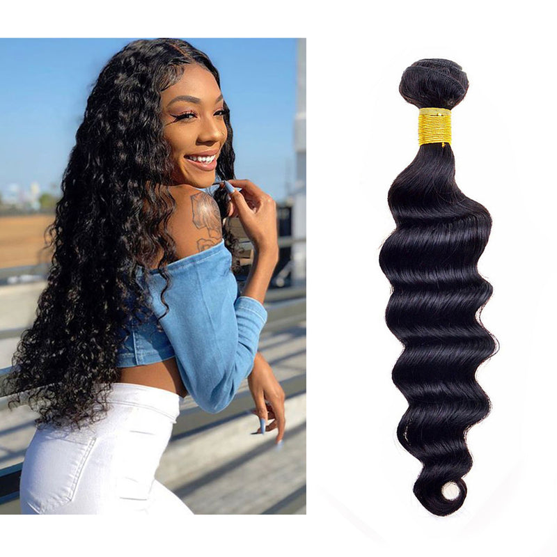 BHE Hair 8A 1 Bundle Brazilian Loose Deep Virgin Human Remy Hair Weave