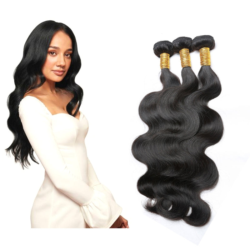BHE Hair 8A Virgin Brazilian Body Wave 3 Bundles Human Wavy Hair Extension Deal