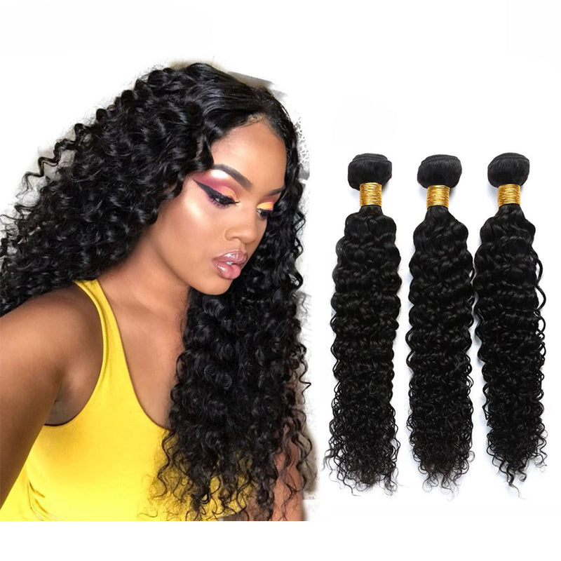 BHE Hair 8A 3 Bundles Brazilian Deep Curly Virgin Human Remy Hair Weave