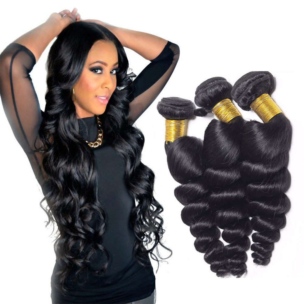 BHE Hair 8A Grade Brazilian Hair Loose Wave 3 Bundles Virgin Hair Weaves Sale