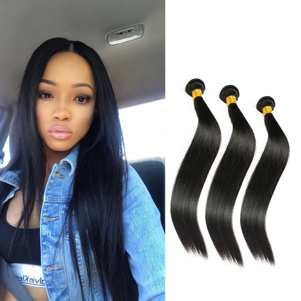 BHE Hair 8A Grade Brazilian Hair Straight 3 Bundles Virgin Hair Weaves Sale