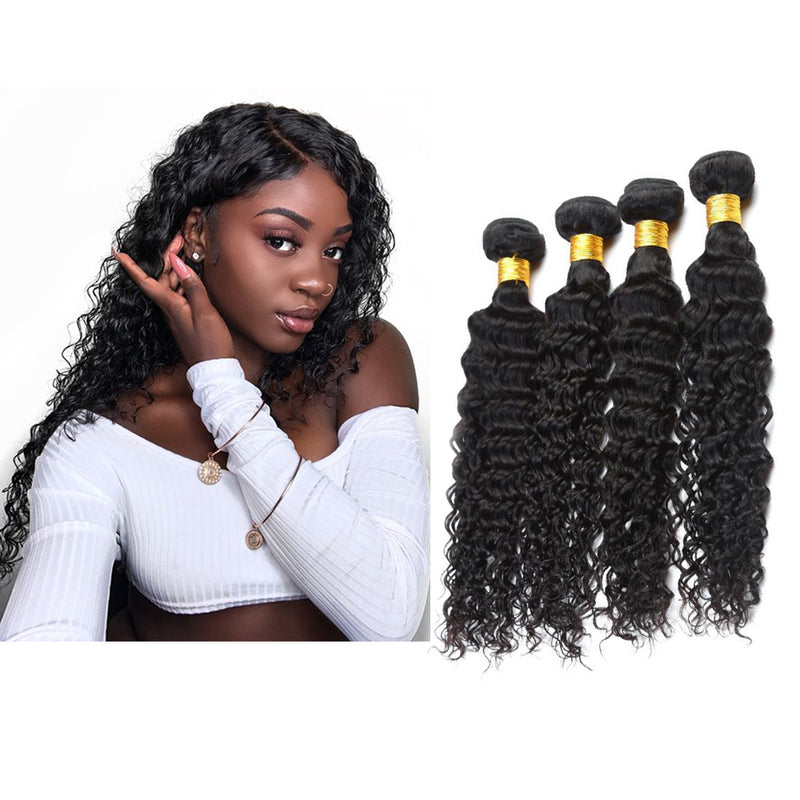 BHE Hair 8A 4 Bundles Brazilian Deep Curly Virgin Human Remy Hair Weave