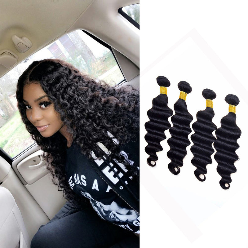 BHE Hair 8a Cheap Loose Deep Wave Human Hair Weave 4 Bundles Brazilian Remy Hair Hairstyles
