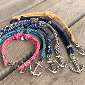 Nautical and waterproof anchor bracelet  from Swedish Maris Sal. Ankararmband från svenska Maris Sal.