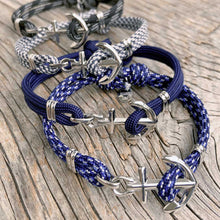 Ladda upp bild till gallerivisning, Nautical and waterproof anchor bracelet  from Swedish Maris Sal. Ankararmband från svenska Maris Sal.