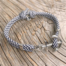 Load image into Gallery viewer, Nautical and waterproof anchor bracelet  from Swedish Maris Sal. Ankararmband från svenska Maris Sal.