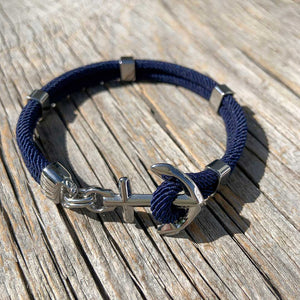 Nautical anchor bracelet from Swedish Maris Sal. Marint ankararmband från svenska Maris Sal.