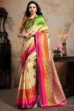 Load image into Gallery viewer, Bhelpuri Beige Silk Blend Woven Saree with Blouse Piece