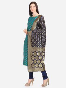 Bhelpuri Cotton Jacquard Rama Designer Party Wear Salwar Suit