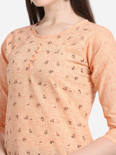 Load image into Gallery viewer, Admyrin Peach South Cotton Foil Print Kurti