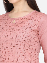 Load image into Gallery viewer, Admyrin Pink Cotton Pigment Foil Print Kurti