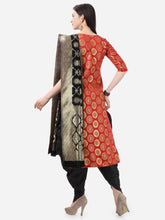Load image into Gallery viewer, Bhelpuri Cotton Jacquard Red Designer Party Wear Salwar Suit