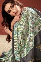 Load image into Gallery viewer, Bhelpuri Multicoloured Crepe Printed Saree with Blouse Piece